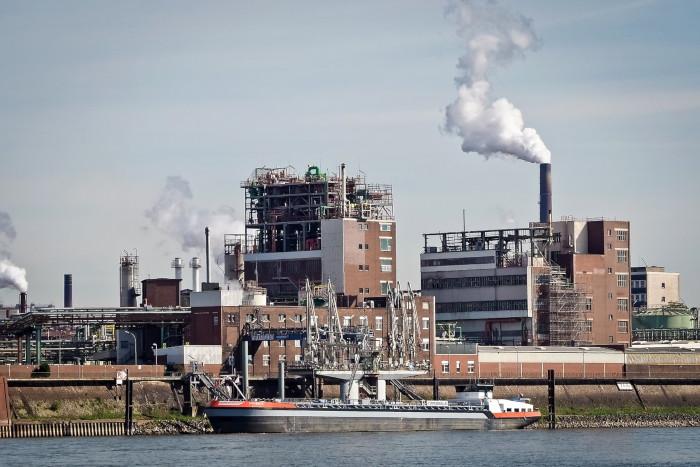 Ein Industriegelände in Krefeld.